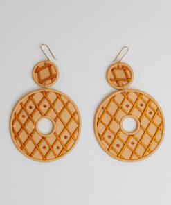 Banana Coco Butterscotch Donut Earrings