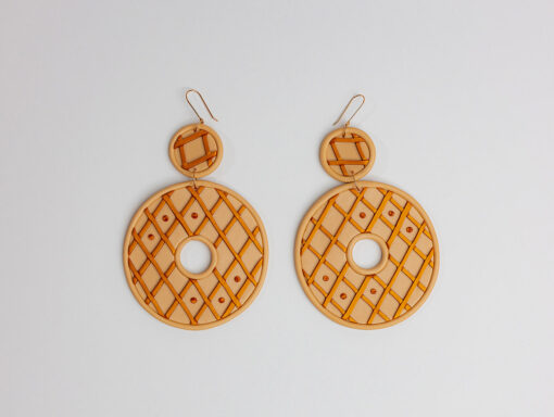 Banana Coco Butterscotch Donut Earrings