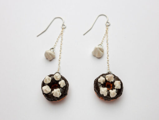 Mexican Chocolate Donut Earrings