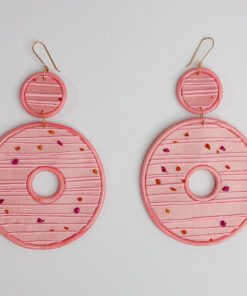 Pink Lemonade Donut Earrings