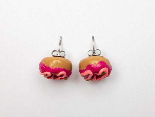 Very Berry Rosemary Donut Earrings
