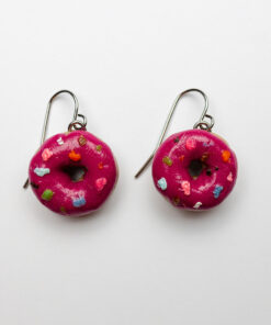 Very Berry Sprinkles Donut Earrings