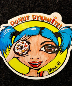 sticker with blue hair