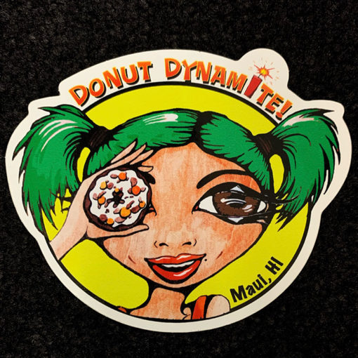 sticker with green hair