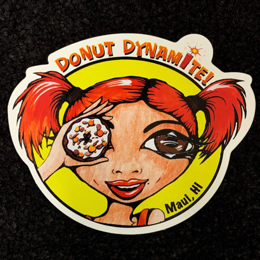 sticker with red hair